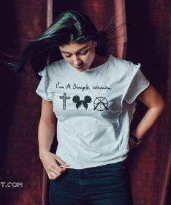 I'm a simple woman I like cross mickey disney and hunting shirt