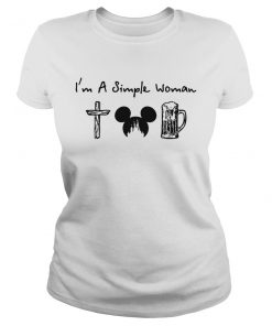 I'm a simple woman I like cross mickey disney and drinking lady shirt
