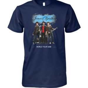 Jonas brothers world tour 2009 unisex cotton tee