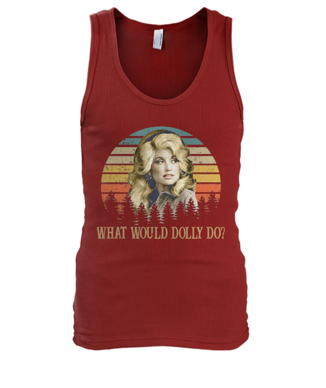 Kristin chenoweth what would dolly do men's tank top