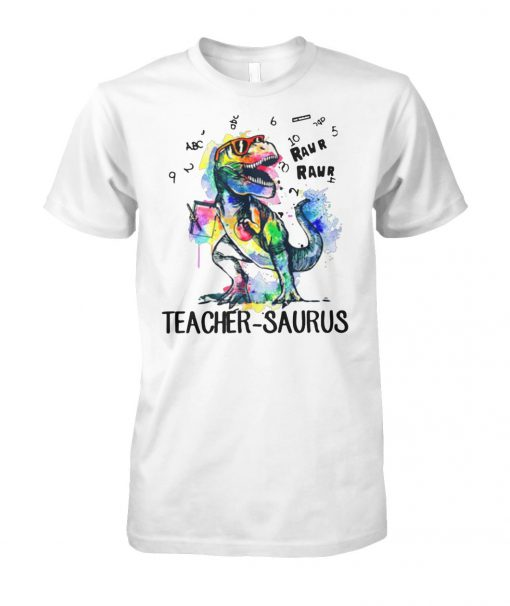 LGBT dinosaur t-rex teacher saurus raw unisex cotton tee