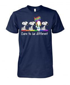 LGBT snoopy kiss my ass dare to be different unisex cotton tee