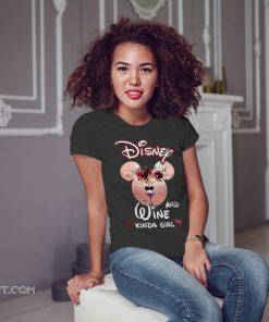 Mickey mouse disney and wine kinda girl shirt