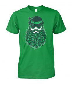 Moustache leprechauns st patrick's day unisex cotton tee