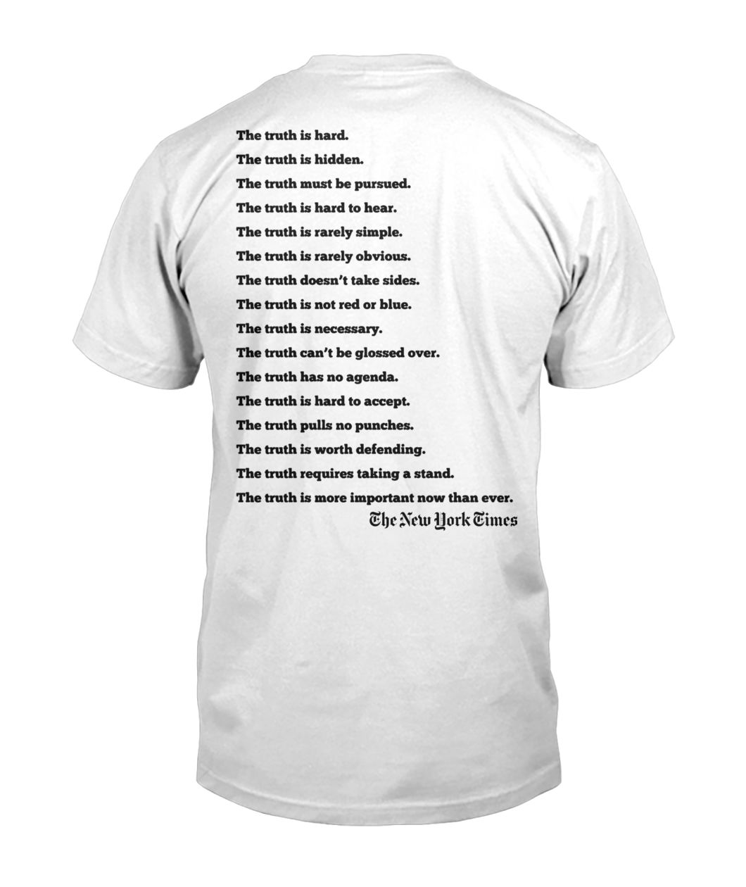 New york times truth the truth is hard the truth is hidden mens v-neck