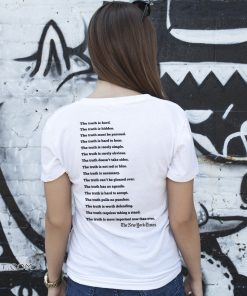 New york times truth the truth is hard the truth is hidden shirt