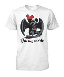 Night Fury Toothless vacay mode balloon mickey mouse unisex cotton tee