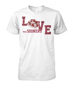 Oklahoma sooners love my team unisex cotton tee
