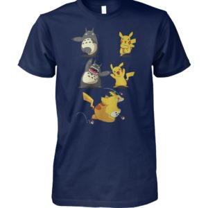 Pikachu fusion totoro became totochu or pikaro unisex cotton tee
