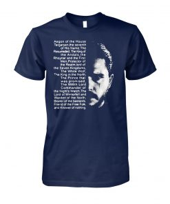 Post malone and game of thrones aegon of the house unisex cotton tee