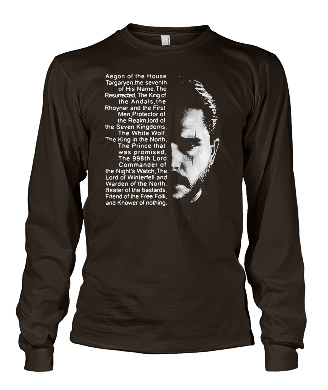 Post malone and game of thrones aegon of the house unisex long sleeve