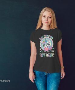 Raccoonicorn 50% unicorn 50% trash panda 100% magic shirt
