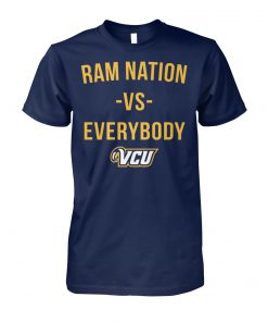 Ram nation vs everybody VCU unisex cotton tee