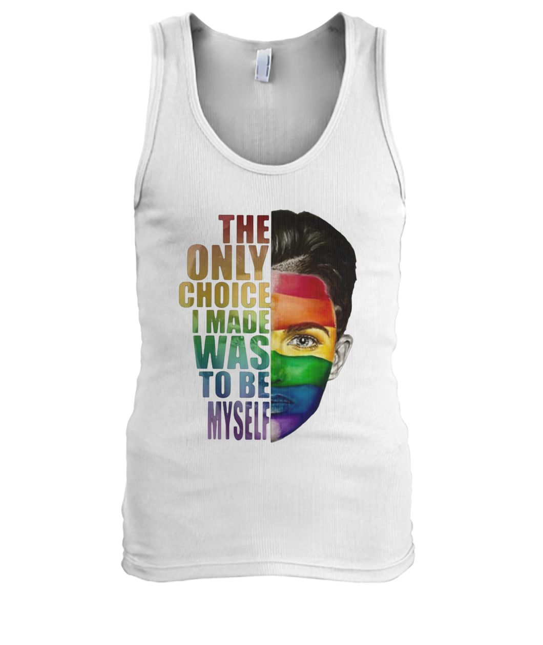 Ruby rose the only choice i made was to be myself LGBT men's tank top