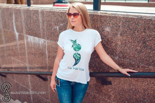 Semicolon hummingbird suicide prevention awareness shirt