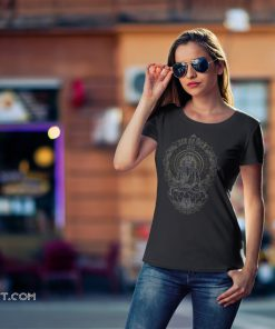 Skullistic zen meditating skeleton shirt