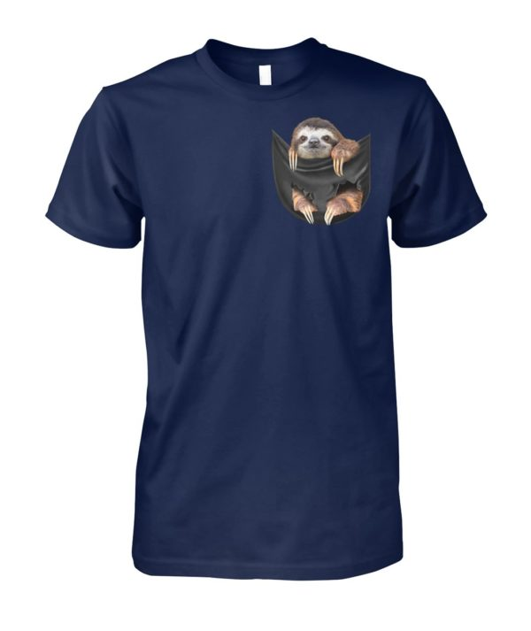 Sloth in the pocket unisex cotton tee