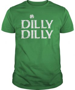 St patrick's day white clover dilly dilly guy shirt