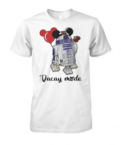 Star Wars R2-D2 vacay mode balloon mickey mouse unisex cotton tee