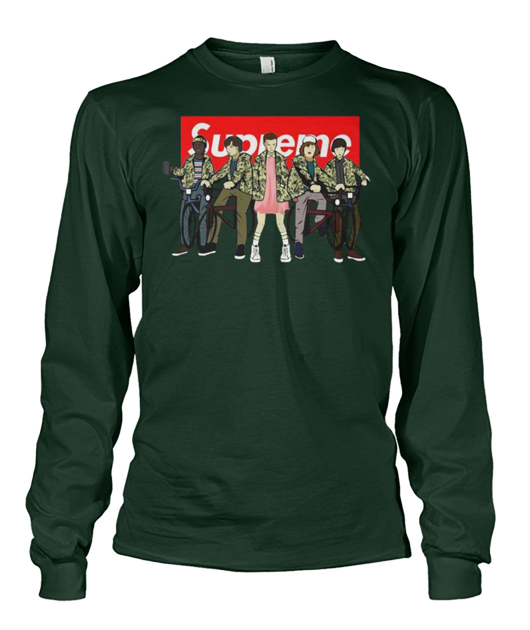 Stranger things supreme unisex long sleeve