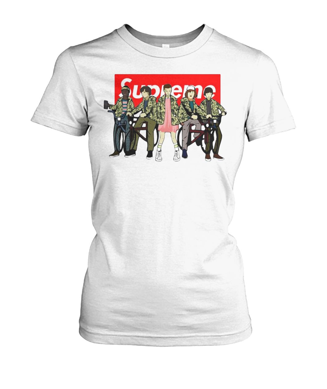 Stranger things supreme women's crew tee