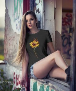 Sunflower butterfly never give up raise multiple sclerosis awareness shirt