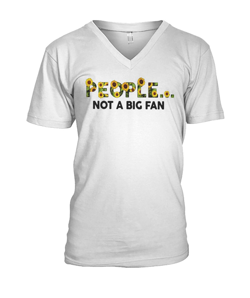 Sunflower people not a big fan mens v-neck