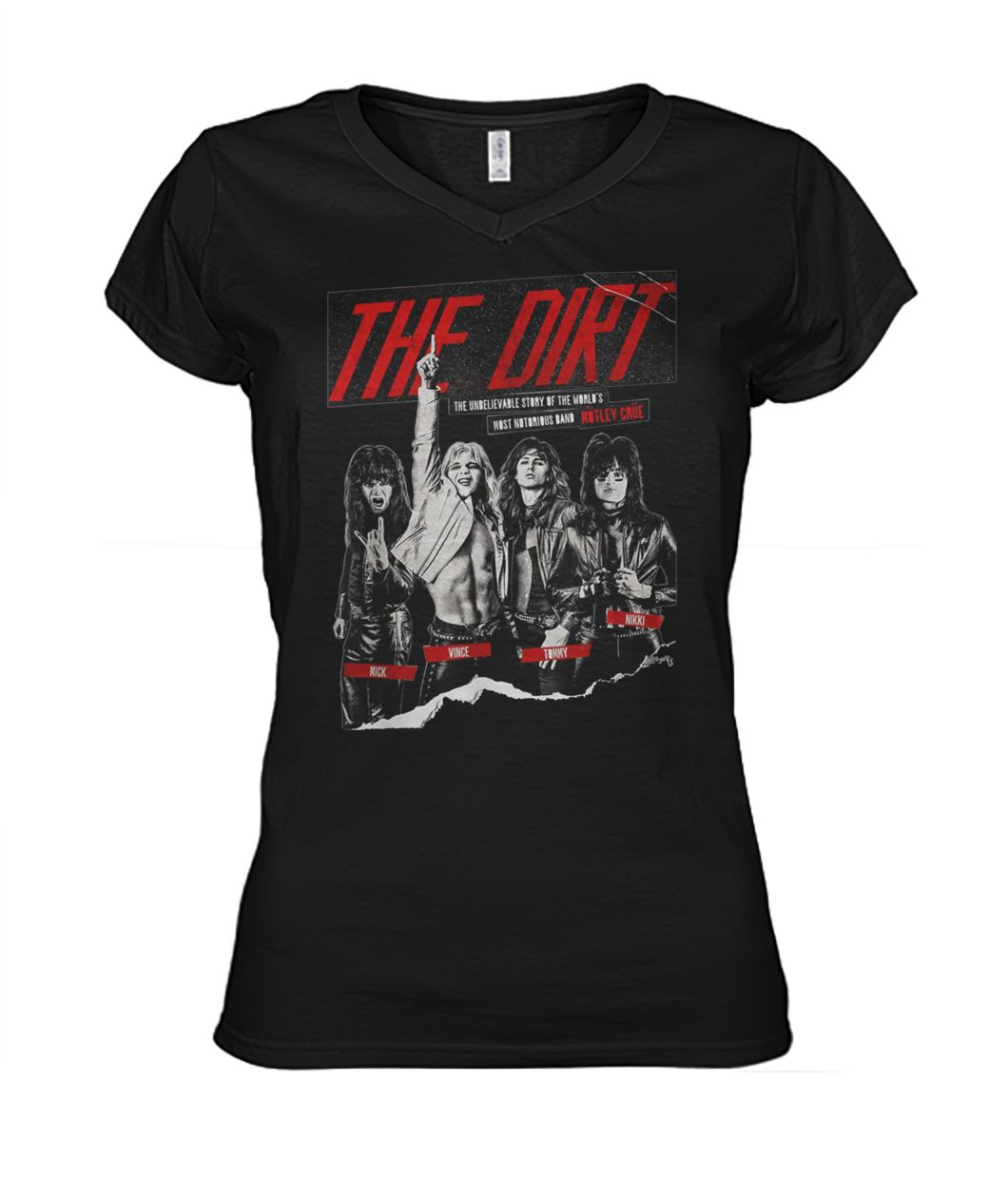 The dirt 2019 the unbelievable story of the world women's v-neck