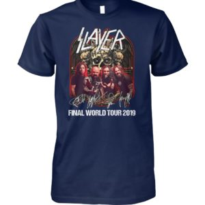 Thrash metal slayer final world tour 2019 unisex cotton tee