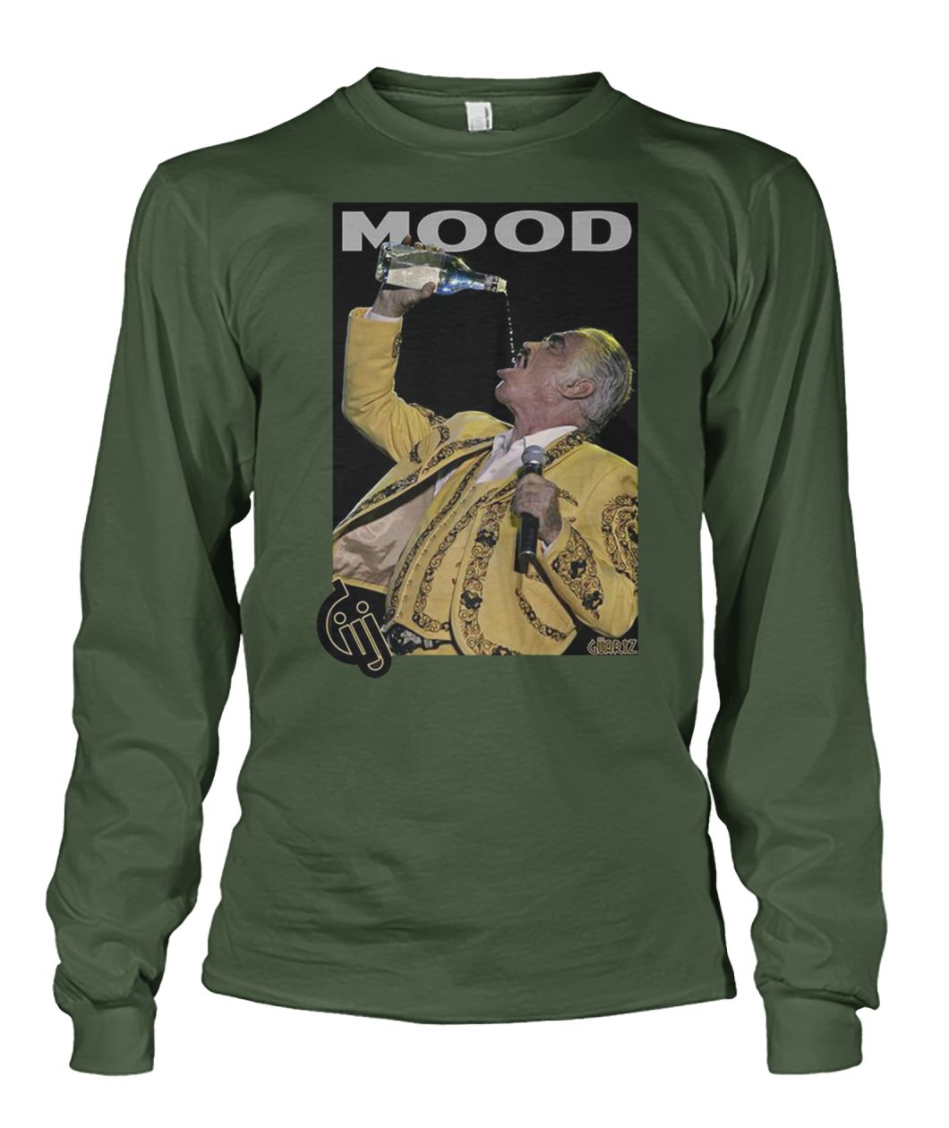 Vicente fernández drinking and singing mood unisex long sleeve