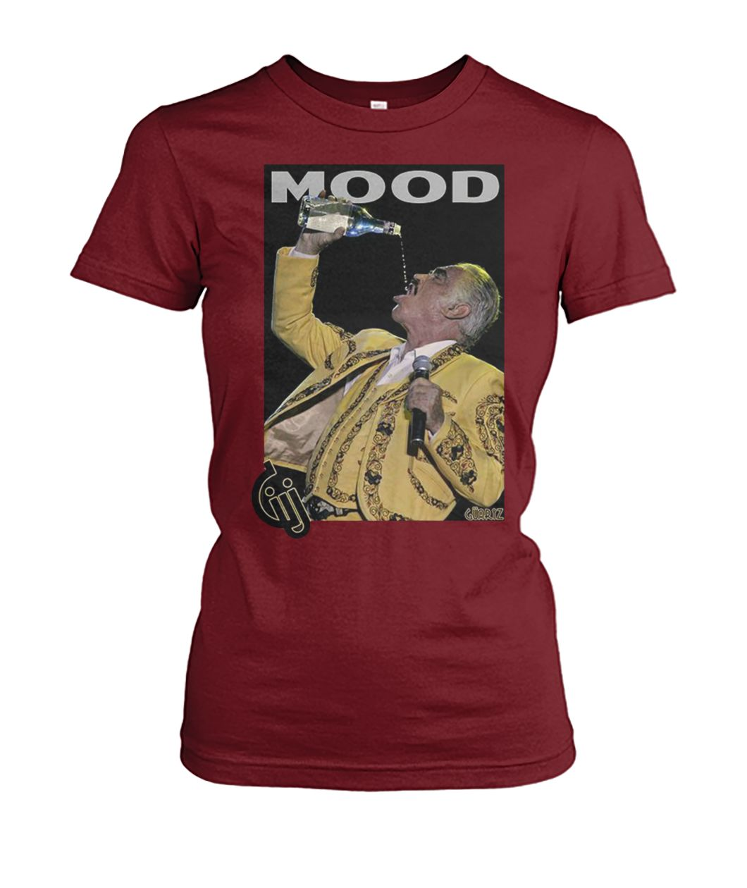 Vicente fernández drinking and singing mood women's crew tee