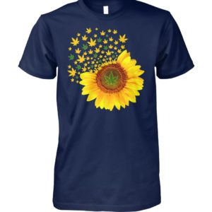 Weed sunflower unisex cotton tee