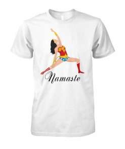 Yoga namaste wonder woman unisex cotton tee