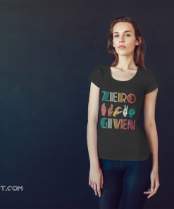 Zero fuck given american sign language vintage shirt