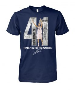 41 dirk nowitzki thank you for the memories unisex cotton tee