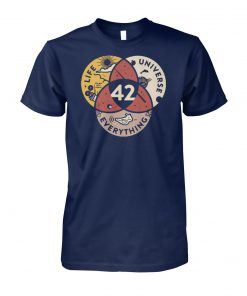 42 the answer to life the universe and everything unisex cotton tee