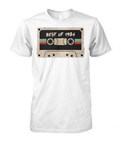 70's mix tape cassette best of 1984 unisex cotton tee