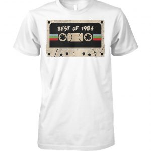 70's mix tape cassette best of 1984 unisex cotton tee