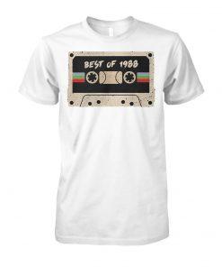 70's mix tape cassette best of 1988 unisex cotton tee