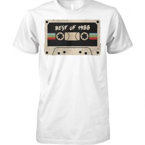 70's mix tape cassette best of 1988 unisex cotton tee
