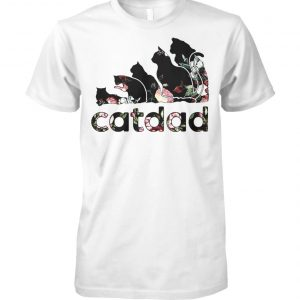 Adidas flower catdad unisex cotton tee