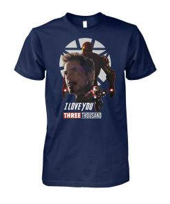 Avenger endgame iron man I love you three thousand unisex cotton tee