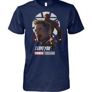Avenger endgame iron man I love you three thousand unisex cotton tee
