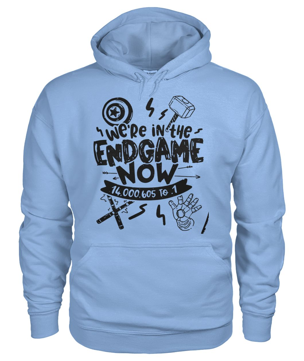 Avengers end game we're in the endgame now gildan hoodie