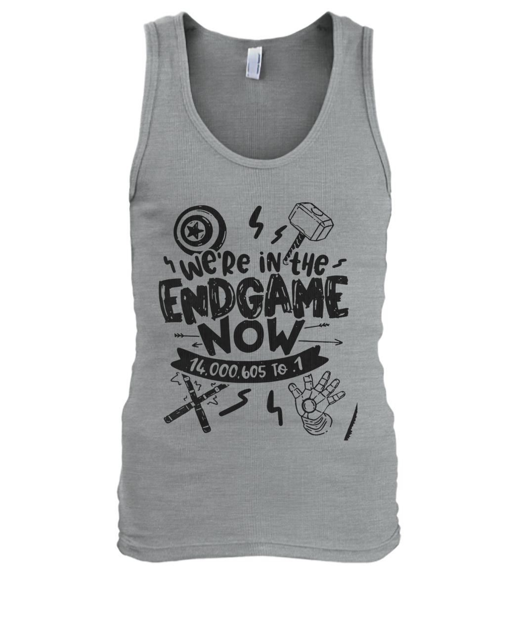 Avengers end game we're in the endgame now men's tank top