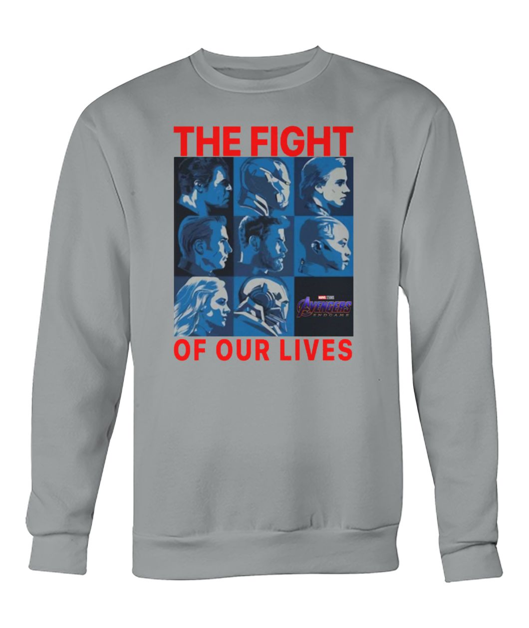 Avengers endgame the fight for our lives crew neck sweatshirt