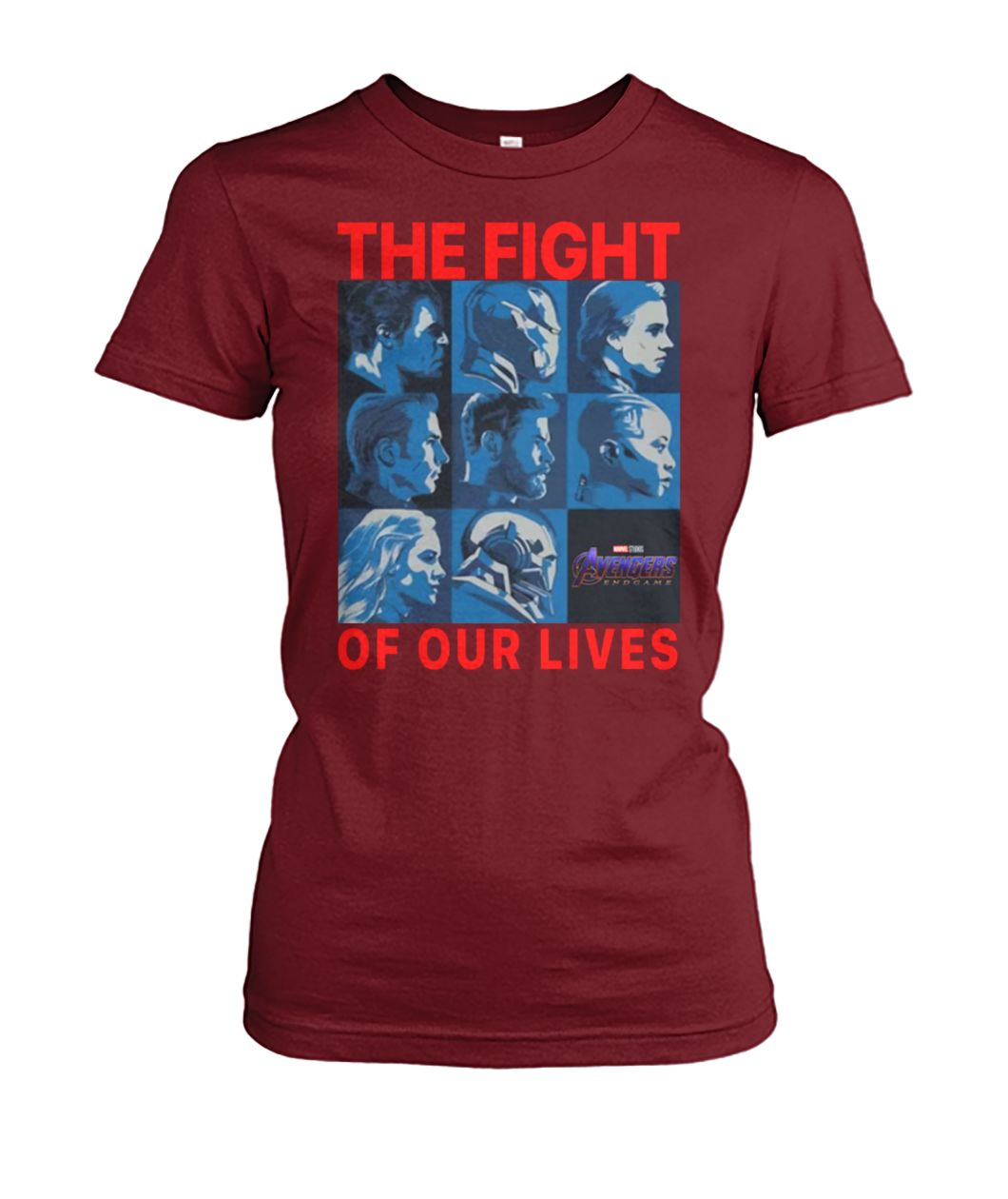 Avengers endgame the fight for our lives women's crew tee