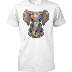 Baby elephant autism awareness unisex cotton tee