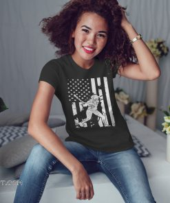 Baseball coach player american flag shirt