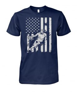 Basketball coach player american flag unisex cotton tee